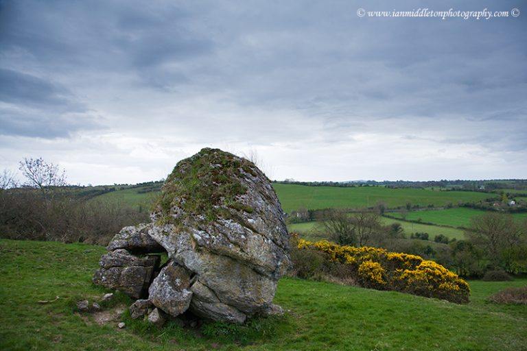 The stone of the Divisions (AKA the Cat Stone) on the Hill of Uisneach