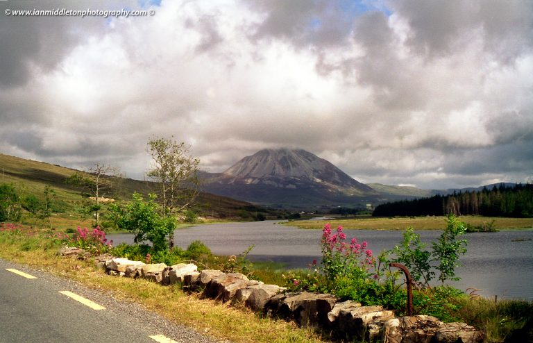 View of Mt Errigal from Gweedore, County Donegal, Ireland