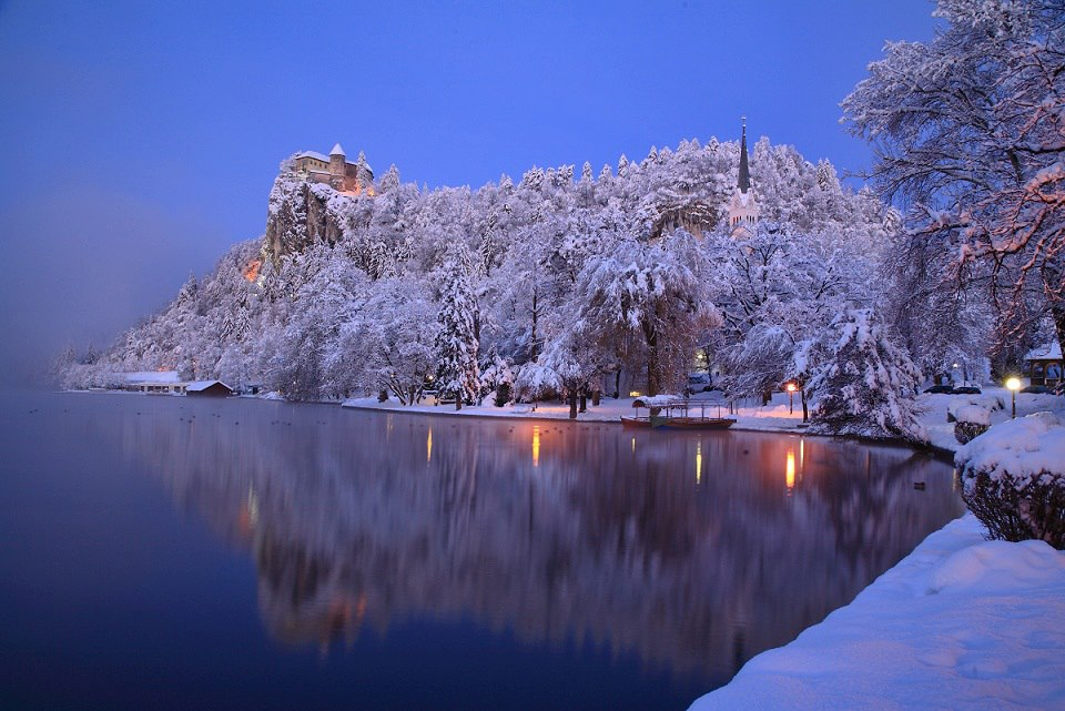 Winter on Lake Bled