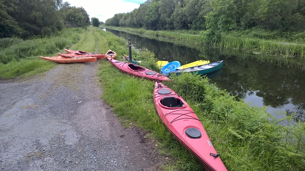Canoes and kayaks on the Grand Canal
